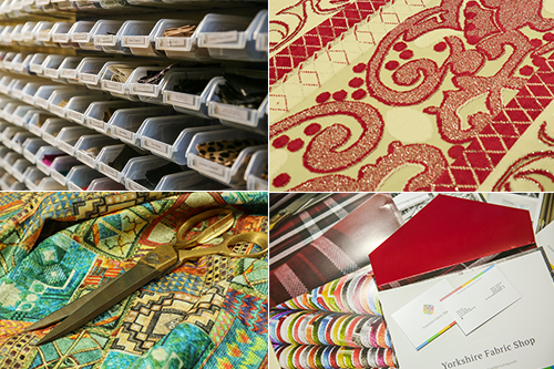 Montage of various fabrics available