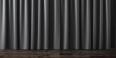 Blackout Curtain Fabric In Grey
