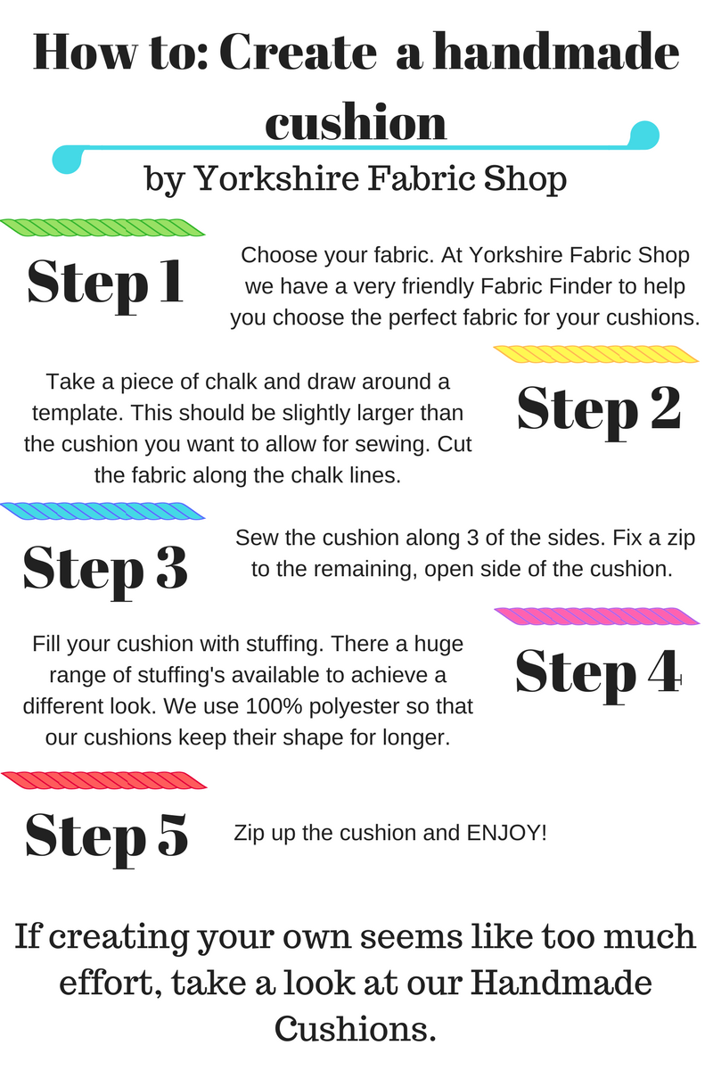 Yorkshire Fabric Shop How To Create A Handmade Cushion