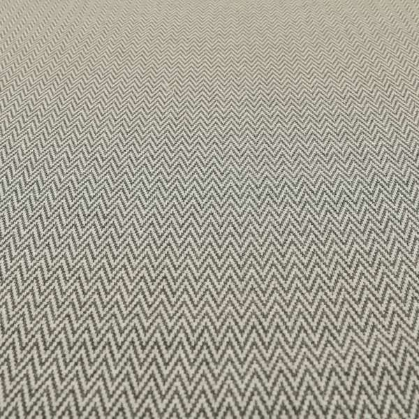 Elemental Collection Chevron Pattern Soft Wool Textured Grey White Colour Upholstery Fabric CTR-109