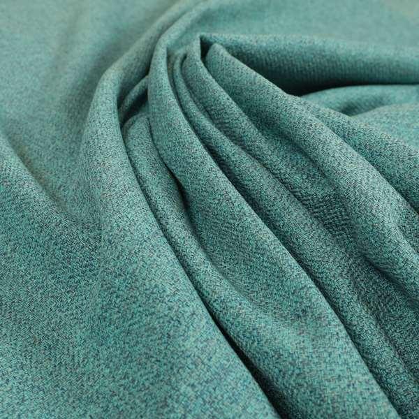Bainbridge Woven Plain Fabric Blue Teal Colour Upholstery Fabric CTR-14