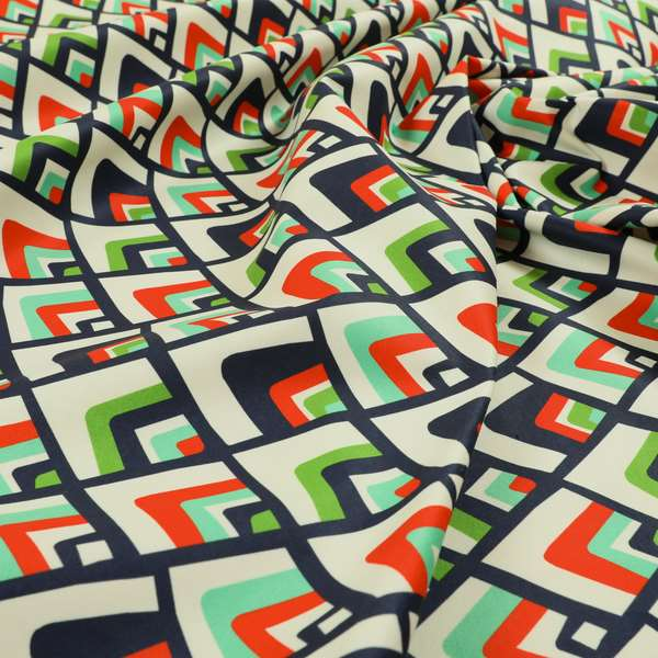 Freedom Printed Velvet Fabric Collection Geometric Pattern Upholstery Fabric CTR-46