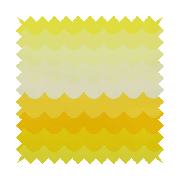 Freedom Printed Velvet Fabric Collection Yellow Waves Pattern Upholstery Fabric CTR-49