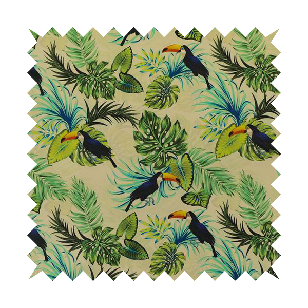 Freedom Printed Velvet Fabric Toucan Exotic Bird In Jungle Wildlife Pattern Upholstery Fabrics CTR-490