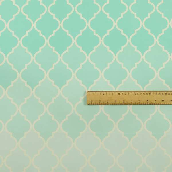 Freedom Printed Velvet Fabric Collection Aqua Colour Pattern Upholstery Fabric CTR-51