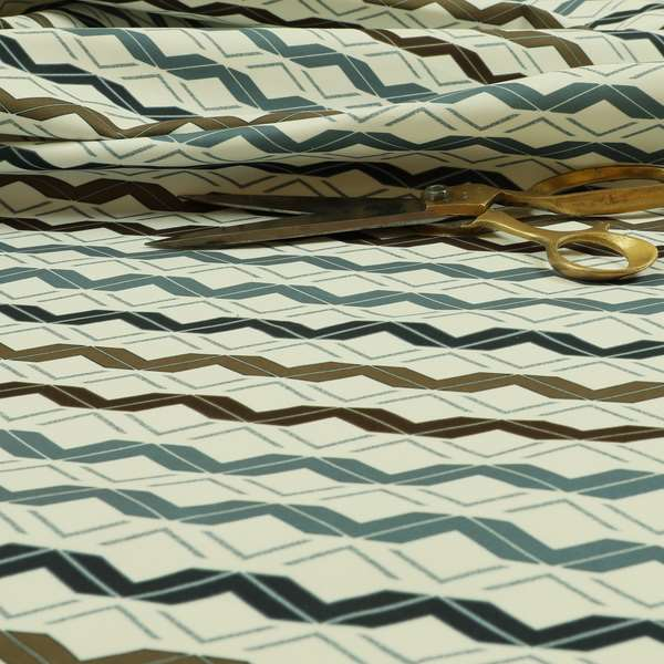 Freedom Printed Velvet Fabric Collection Designer Striped Pattern Upholstery Fabric CTR-54