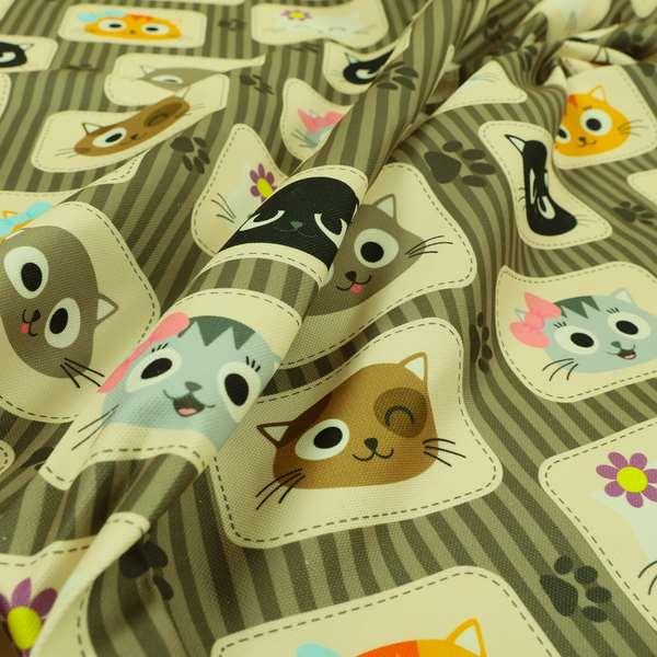 Freedom Printed Velvet Fabric Cat Pet Animal Pattern Upholstery Fabric CTR-609