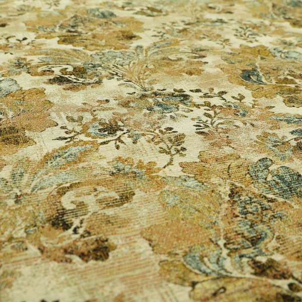 Bruges Life All Over Floral Damask Beige Colour Chenille Jacquard Upholstery Fabrics CTR-720