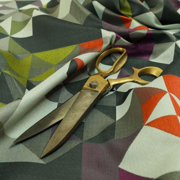 Hawaii Modern Geometric Blue Orange Green Pattern Curtain Upholstery Fabrics CTR-830