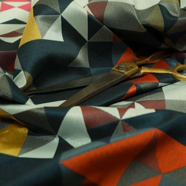 Hawaii Modern Geometric Blue Orange Yellow Pink Pattern Curtain Upholstery Fabrics CTR-831