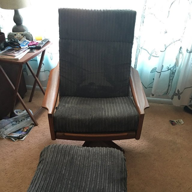 Coral Ramage York20 Corduroy Chair In Grey Colour
