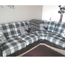 From Corduroy To Louise30 Tartan On A Corner Sofa