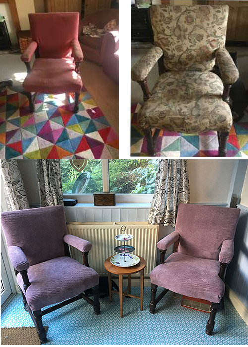 Sophie Welsh Pair Of Fabric Chairs
