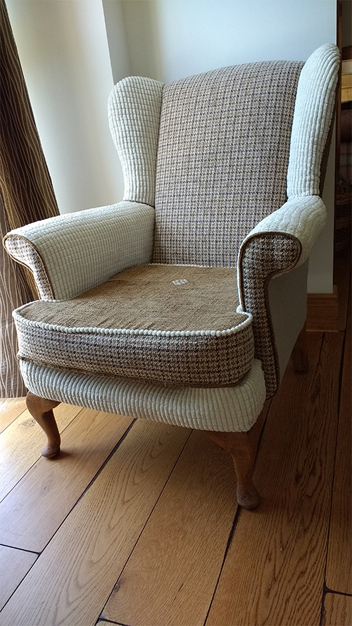 Jan Laws Reupholstered Arm Chair With Didcot20 Corduroy Fabric