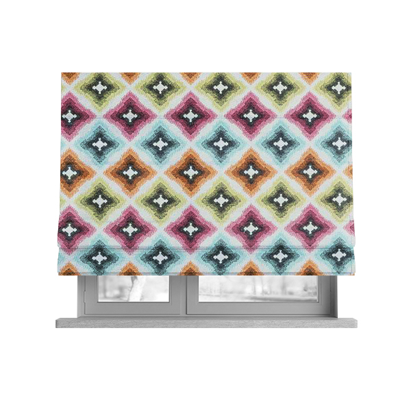 Carnival Living Fabric Collection Multi Colour Geometric Pattern Upholstery Curtains Fabric JO-473