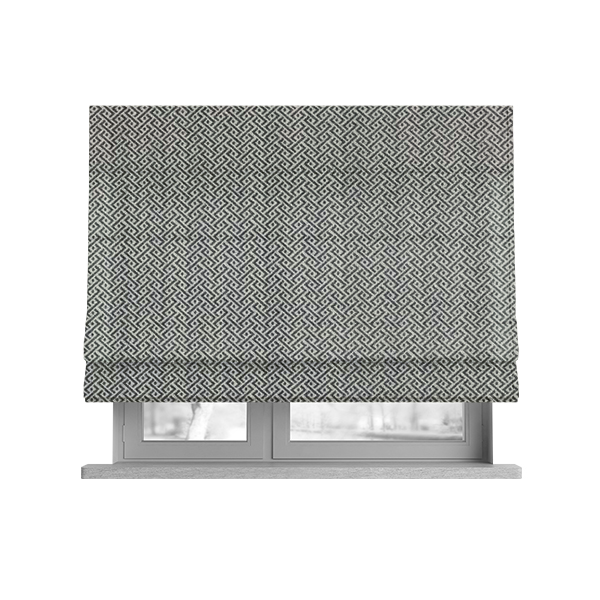 Elemental Collection Small Pattern Soft Wool Textured Grey White Colour Upholstery Fabric CTR-120