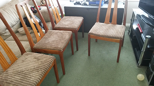 Donna With Dining Chairs Upholstered In York10 Corduroy Fabric