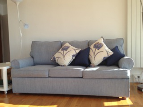 A Happy Sofa Covered In Ludlow100 Fabric From France