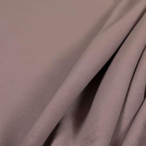 Giovanni Matt Plain Velvet Upholstery Fabric In Soft Pink Colour