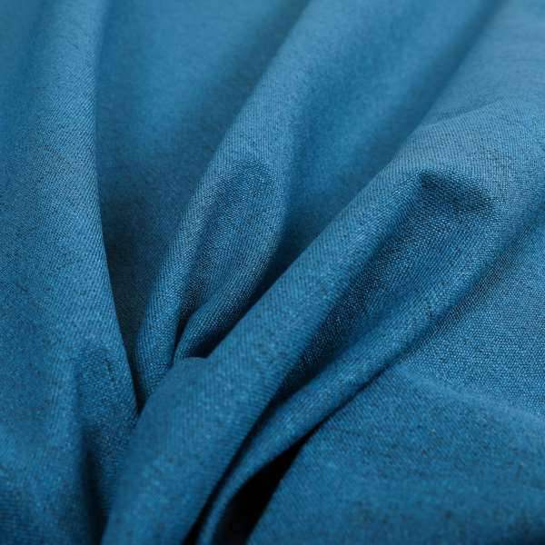 Ibiza Soft Chenille Furnishing Upholstery Fabric In Navy Blue Colour
