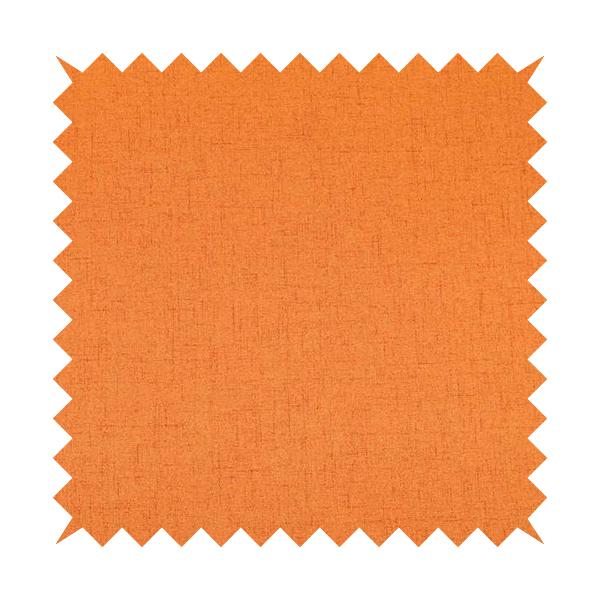 Ibiza Soft Chenille Furnishing Upholstery Fabric In Orange Colour