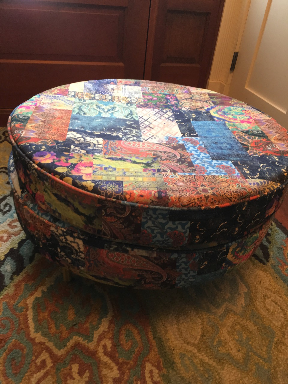 Ines Zagoudakis Freedom CTR-66 Fabric Footstool Table