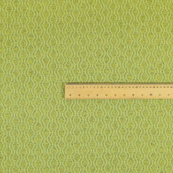 Piccadilly Collection Eclipse Pattern Woven Upholstery Green Chenille Fabric JO-173