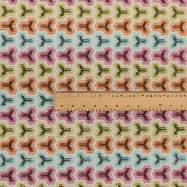 Carnival Living Fabric Collection Multi Colour Geometric Pattern Upholstery Curtains Fabric JO-191
