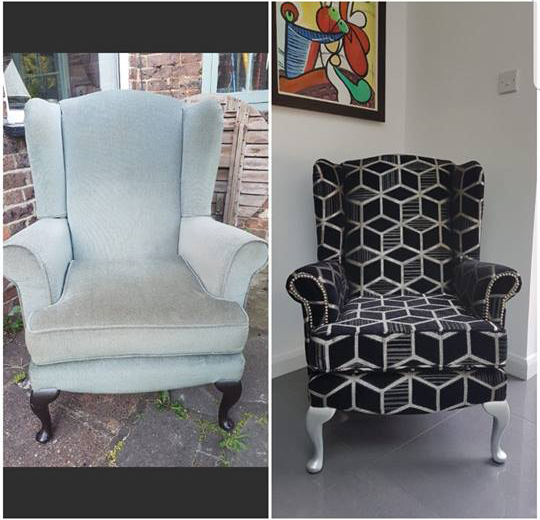 JO-246 Fabric Used On A Wingback Chair By Jen