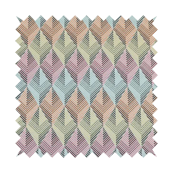 Carnival Living Fabric Collection Multi Colour Geometric 3D Chevron Pattern Upholstery Curtains Fabric JO-500