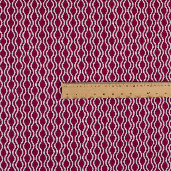 Piccadilly Collection Eclipse Pattern Woven Upholstery Pink Chenille Fabric JO-514