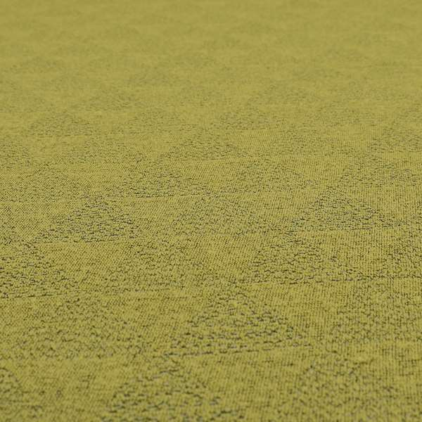 Piccadilly Collection Geometric Triangle Pattern Woven Upholstery Green Chenille Fabric JO-532