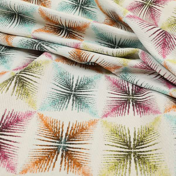 Carnival Living Fabric Collection Multi Colour Geometric Shaped Pattern Upholstery Curtains Fabric JO-621