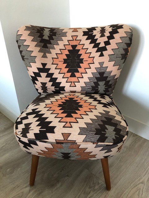 Customer From Netherlands Used JO-656 Pattern Upholstery Fabric For Chairs