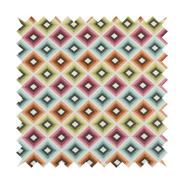 Carnival Living Fabric Collection Multi Colour Geometric Shaped Pattern Upholstery Curtains Fabric JO-659
