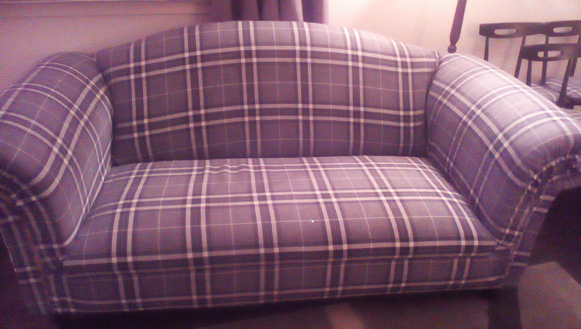 Jennifer Armstrong Louise20 Light Grey Tartan Couch