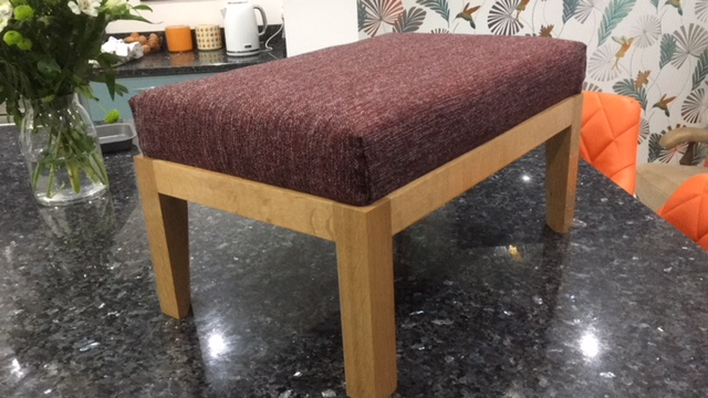 Handmade Footstool By Julie In Coco CTR-273 Fabric