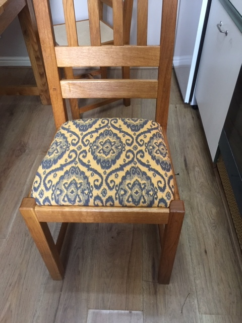 Chair Recovered In Fabric JO-1176
