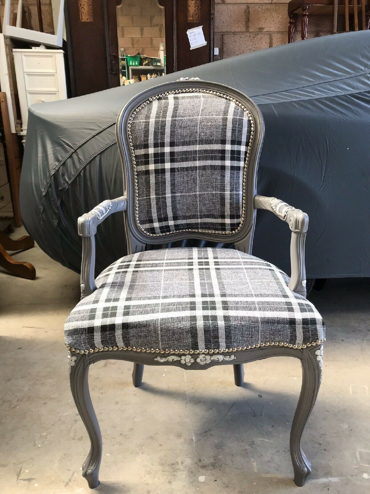 Kirsty Completed Her Project Using Louise20 Light Grey Tartan Fabric