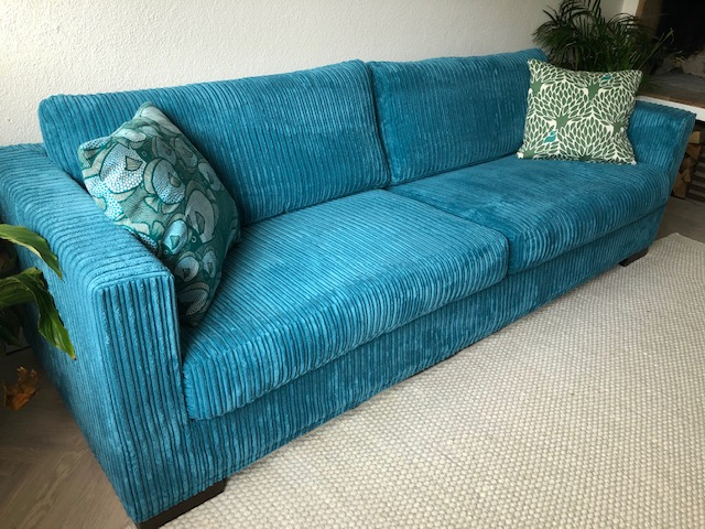 Linda From Sweden Using Our York110 Corduroy Fabric For Her Sofa