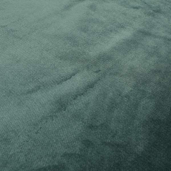 Oscar Deep Pile Plain Chenille Velvet Material Teal Colour Upholstery Fabric