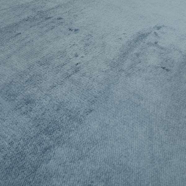 Oscar Deep Pile Plain Chenille Velvet Material Cornflower Blue Colour Upholstery Fabric