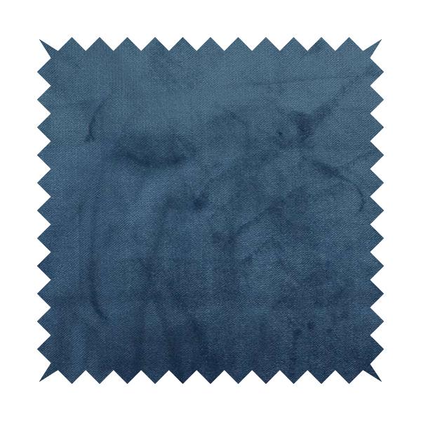 Oscar Deep Pile Plain Chenille Velvet Material Royal Blue Colour Upholstery Fabric