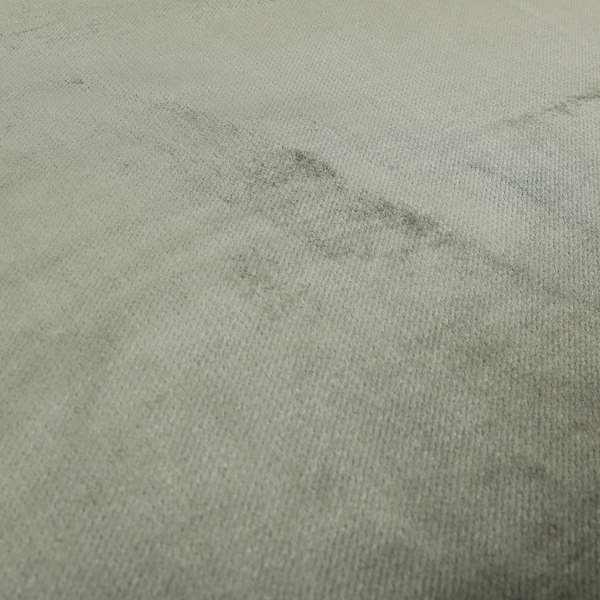 Oscar Deep Pile Plain Chenille Velvet Material Grey Colour Upholstery Fabric