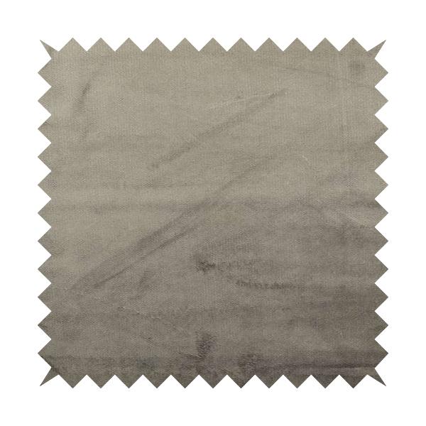 Oscar Deep Pile Plain Chenille Velvet Material Silver Colour Upholstery Fabric