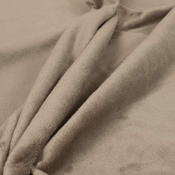 Oscar Deep Pile Plain Chenille Velvet Material Brown Colour Upholstery Fabric
