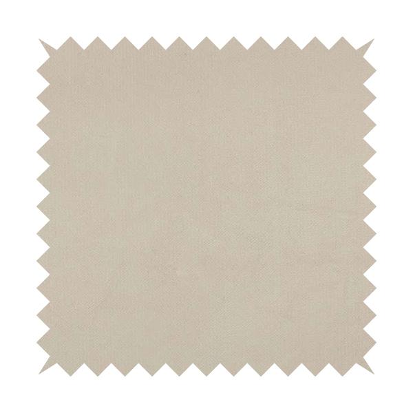 Oscar Deep Pile Plain Chenille Velvet Material White Colour Upholstery Fabric