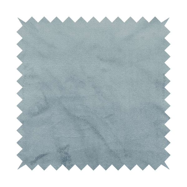 Oscar Deep Pile Plain Chenille Velvet Material Sky Blue Colour Upholstery Fabric