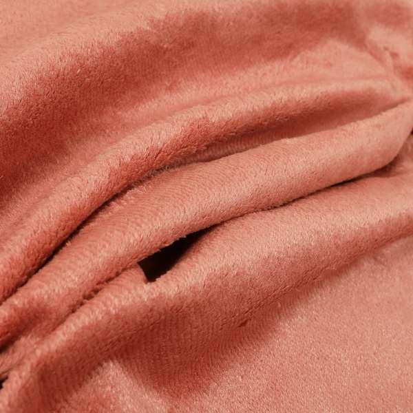 Oscar Deep Pile Plain Chenille Velvet Material Orange Colour Upholstery Fabric
