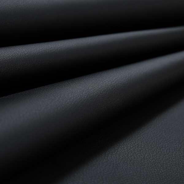 Paris Black Soft Faux Leather PU Grain Finish Look